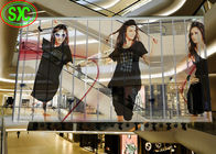High Transparent LED Screen P10.41 Full Color For Shopping Mall Glass Facade