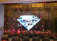 Magic Transparent Glass Led Window Display , 1R1G1B Led See Through Screen P3.91