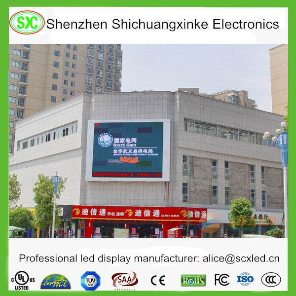 SMD Led Curtain Screen Large Outdoor Led Display For School / Airport