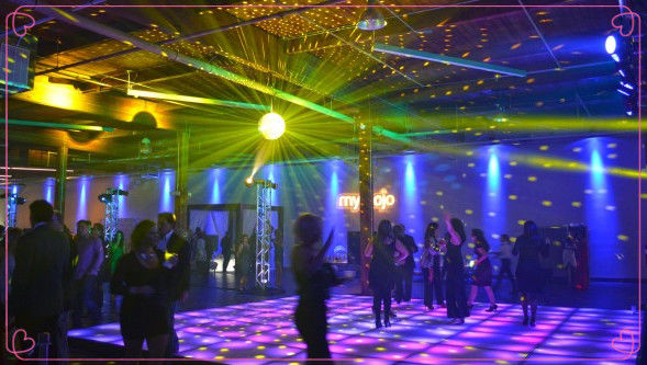 Square Dmx / Sensitive Interactive Led Dance Floor Full Color Underground Decoration