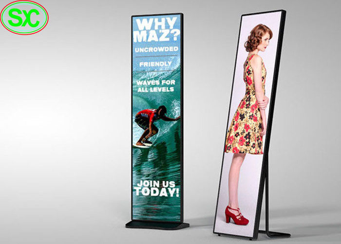 High Brightness LED Poster Display Full Color P3 Indoor Floor Stand Advertising