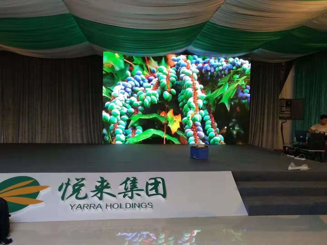 Full Color HD Transparent LED Screen , Indoor Fixed LED Display P2.5 1R1G1B