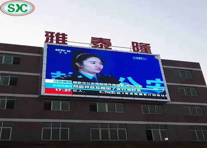 Commercial Advertising P6 Outdoor Full Color LED Display 192x192mm Module Size