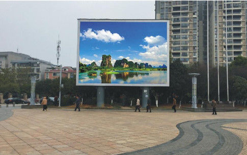 Custom Size P6 Big Outdoor Full Color LED Display 64*32dots Module Resolution