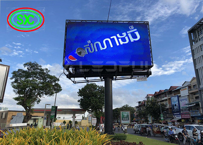 Hd Tv Big Full Color Advertising LED Screens P6 Column Type High Brightness
