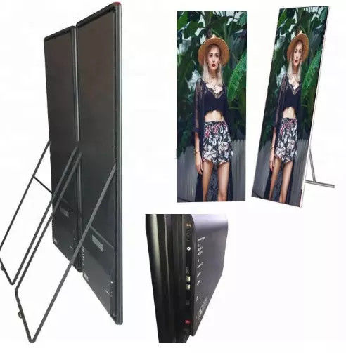 P3mm indoor led poster display full color wifi usb wireless control 3d advertising poster led display