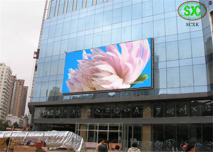 DIP346 P16 Full Color LED Billboards , Commercial Center Plaza Electronic LED Sign Displays